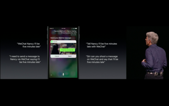 iOS 10 Siri transcribing in the demo